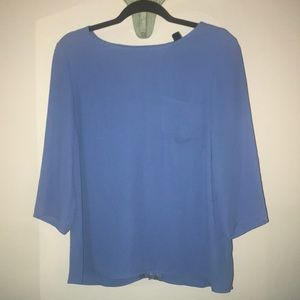 Blue blouse with design on back